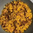 Cous cous con tacchino, melanzane e trito aromatico